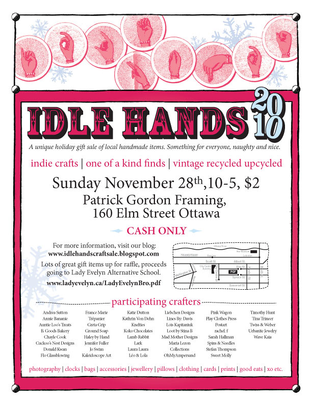 Idle Hands Craft Sale Poster Melanie Flickr