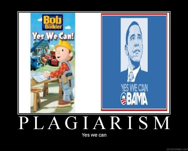 Plagiarism barack obama yes we can motivational posters fu for Bett yes we can