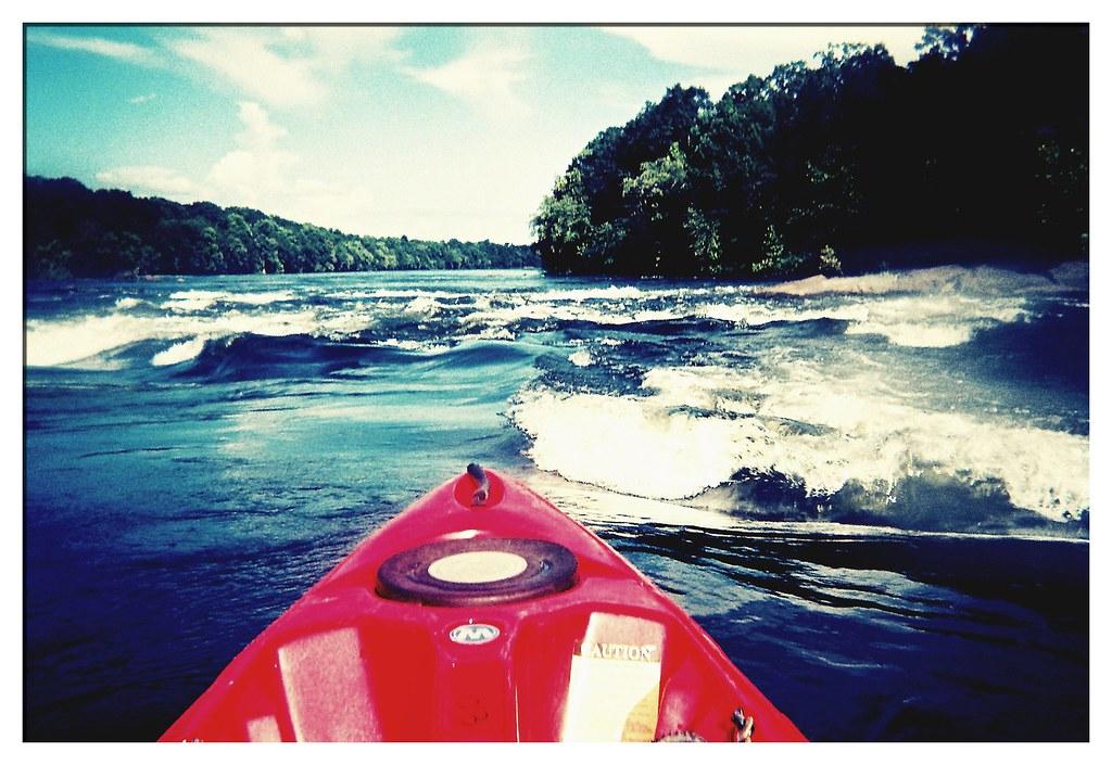 Kayaking the Coosa River | Originally shot with a Fuji dispo