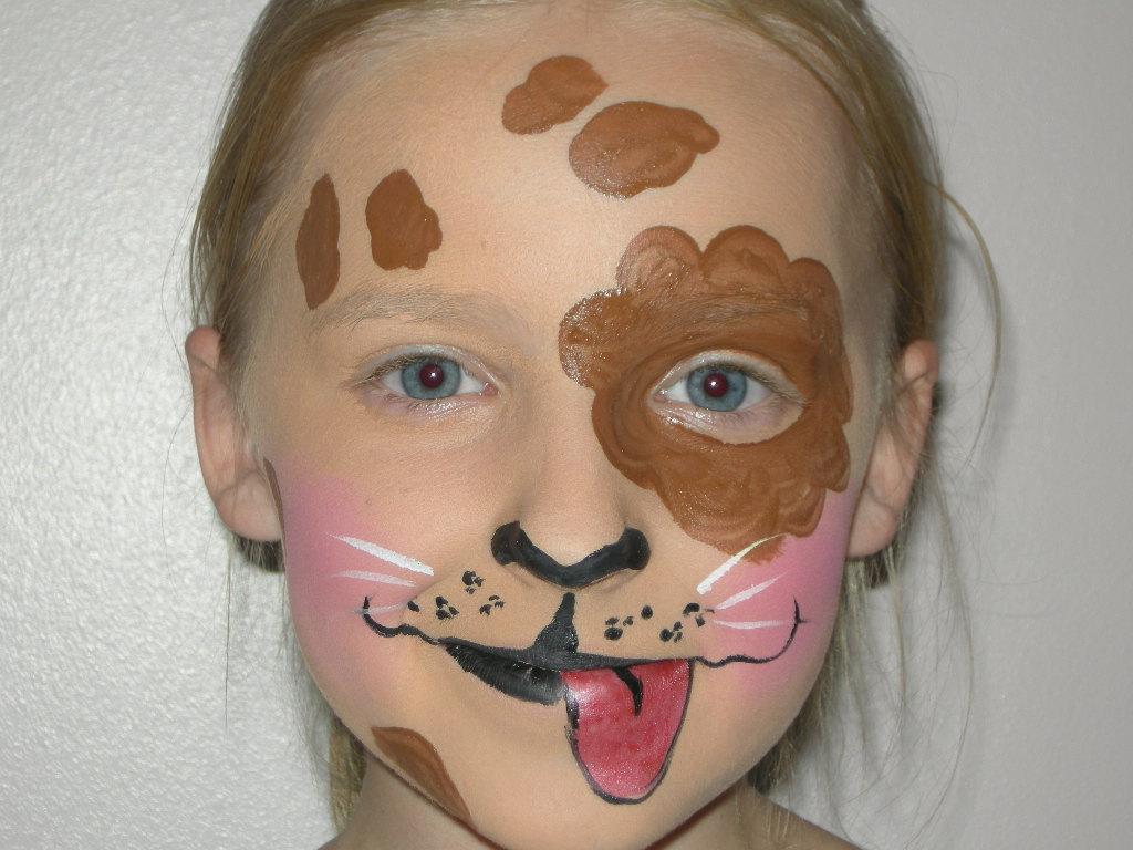 Uncategorized Face Paint Dog brown dog face painting www pampereddelights co uk flickr