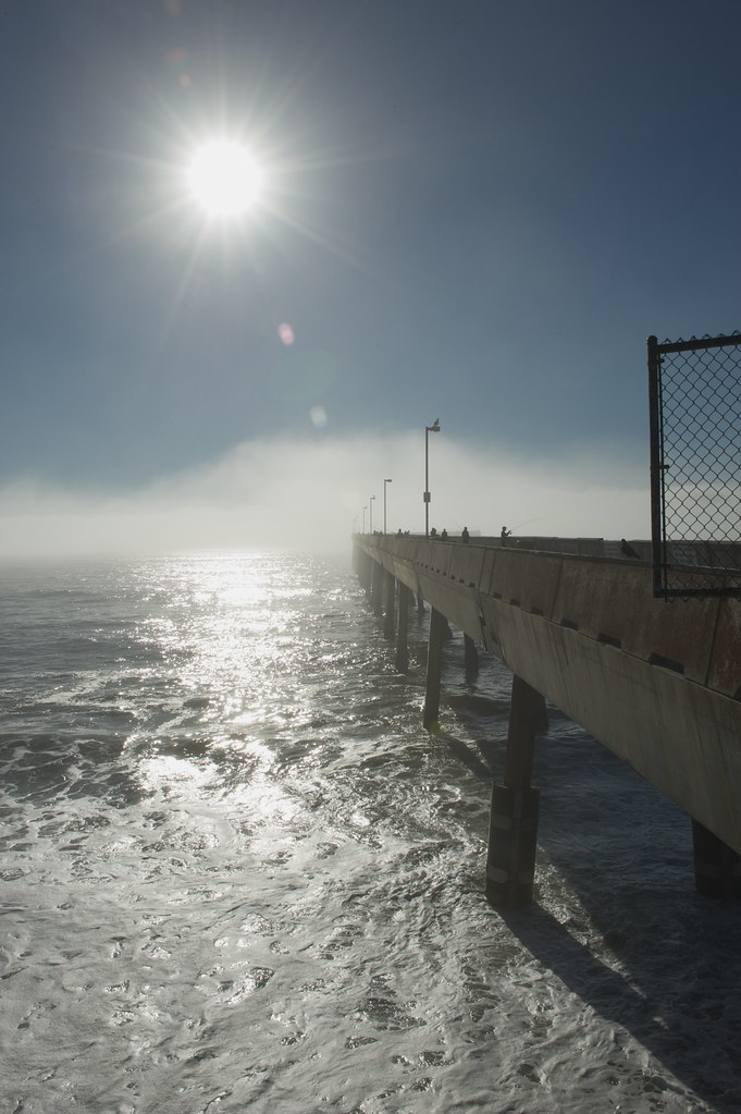 Sunset at pacifica fishing pier with fog burnoff 9 2010 for Pacifica pier fishing report