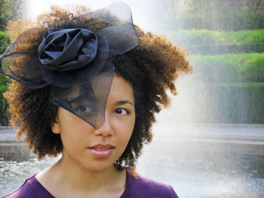 Curly Hair Accessories Black Fascinator Our Dramatic