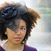 Curly Hair Accessories Black Fascinator