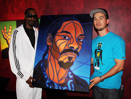 Snoop Dogg with his TTW Painting | by Timothy Teruo Watters' Art