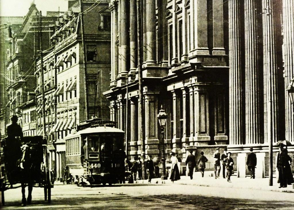 Grand Foyer And Rear Of Auditorium Of Allen Place In Montreal : Vieux montréal la rue saint jacques gt ouest depuis p
