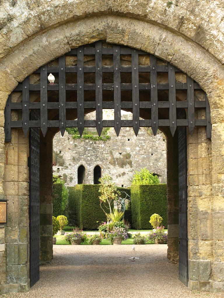 Looking through the Portcullis at Amberley Castle, Nr Arun ...