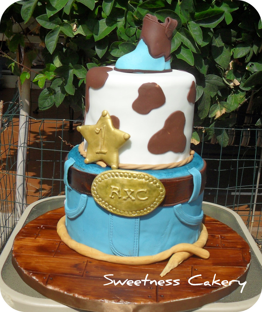 Cowboy 1st Birthday Cake Sweetnesscakery Flickr