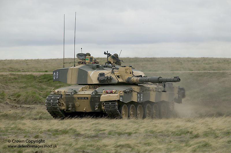 Challenger 2 Tank At Batus Canada A Challenger 2 Main