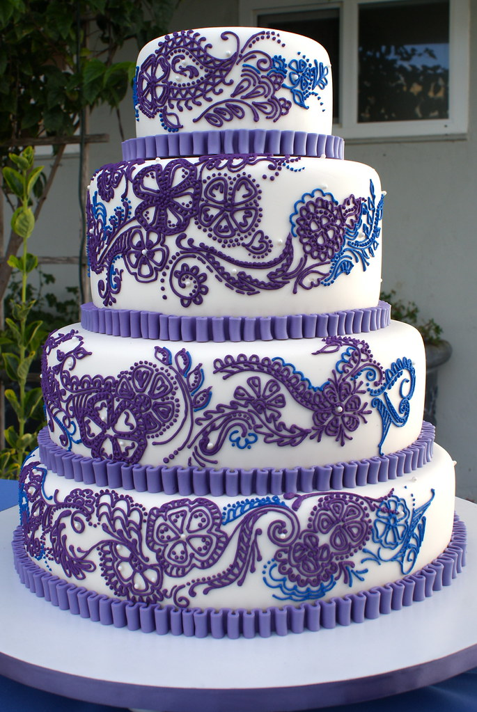 Royal Blue And Purple Wedding Cakes