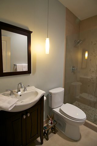 Small bathroom remodel small bath makeover completed by for Small bathroom renovations pictures