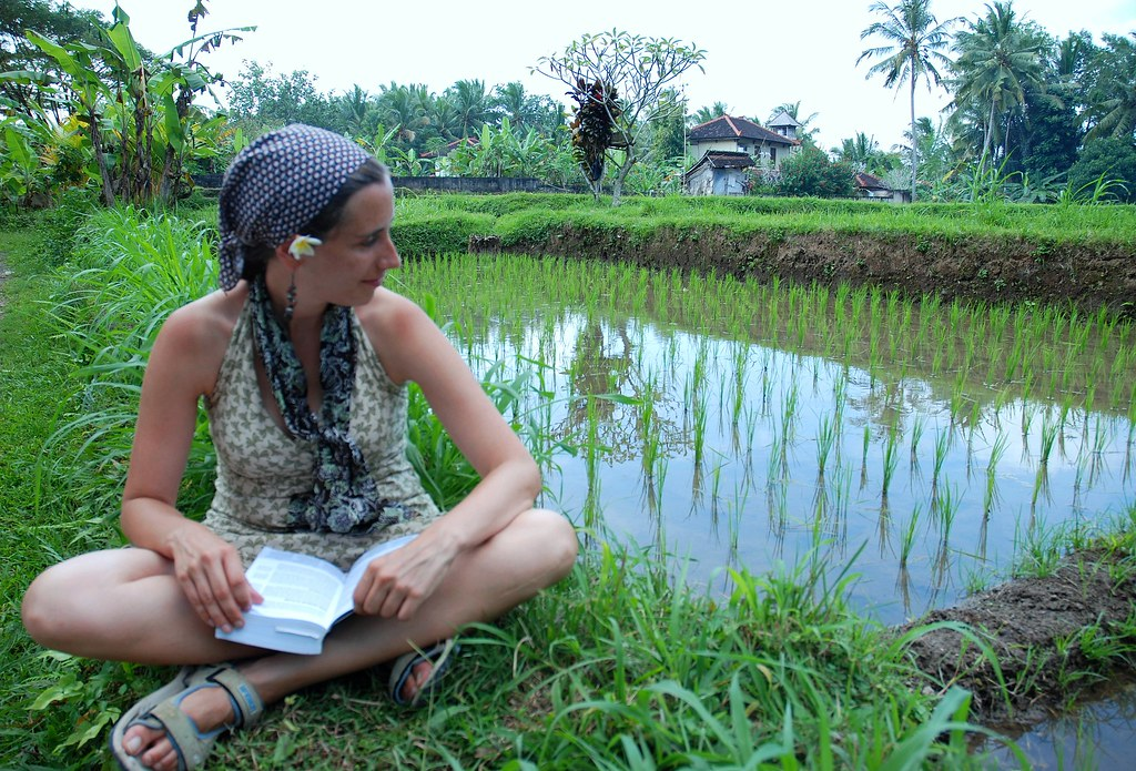 Reading in the Rice Fields