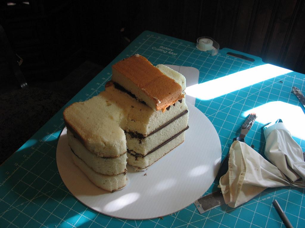 Camera Cake Carved 3D Carved Fondant Covered Camera