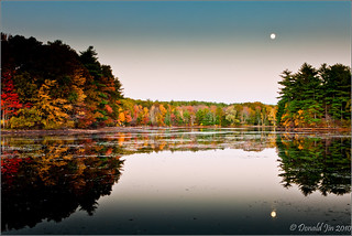 Day 78: Moonrise Over Turner Pond | by Donald Jin