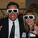 Guests posing with glasses at Leadership Dinner