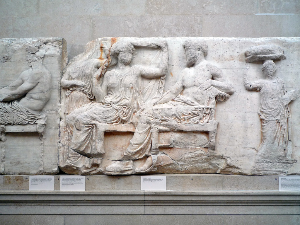 Parthenon, East Frieze, Slab 5 (Gods) | Phidias ...