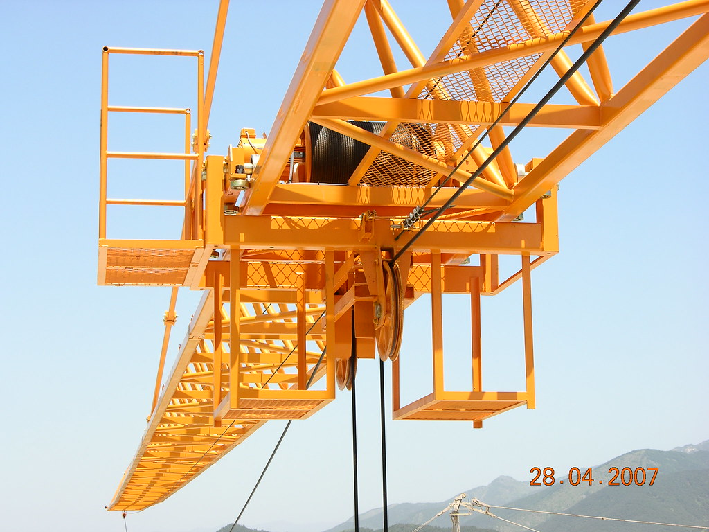 Tower Crane New Technology : Knf i ton tower crane jib and trolley heavy