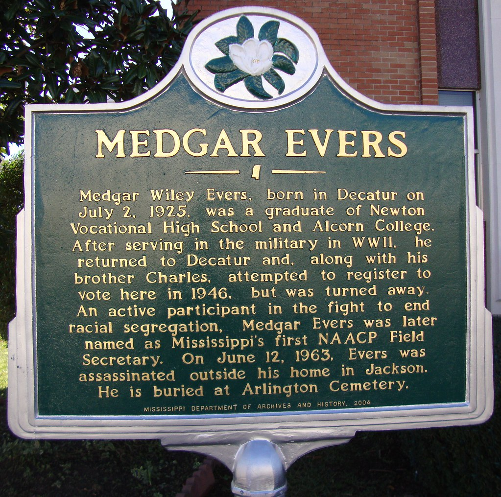 Mississippi newton county decatur -  Medgar Evers Marker Decatur Mississippi By Courthouselover
