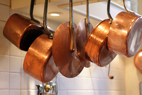 copper pots | by David Lebovitz