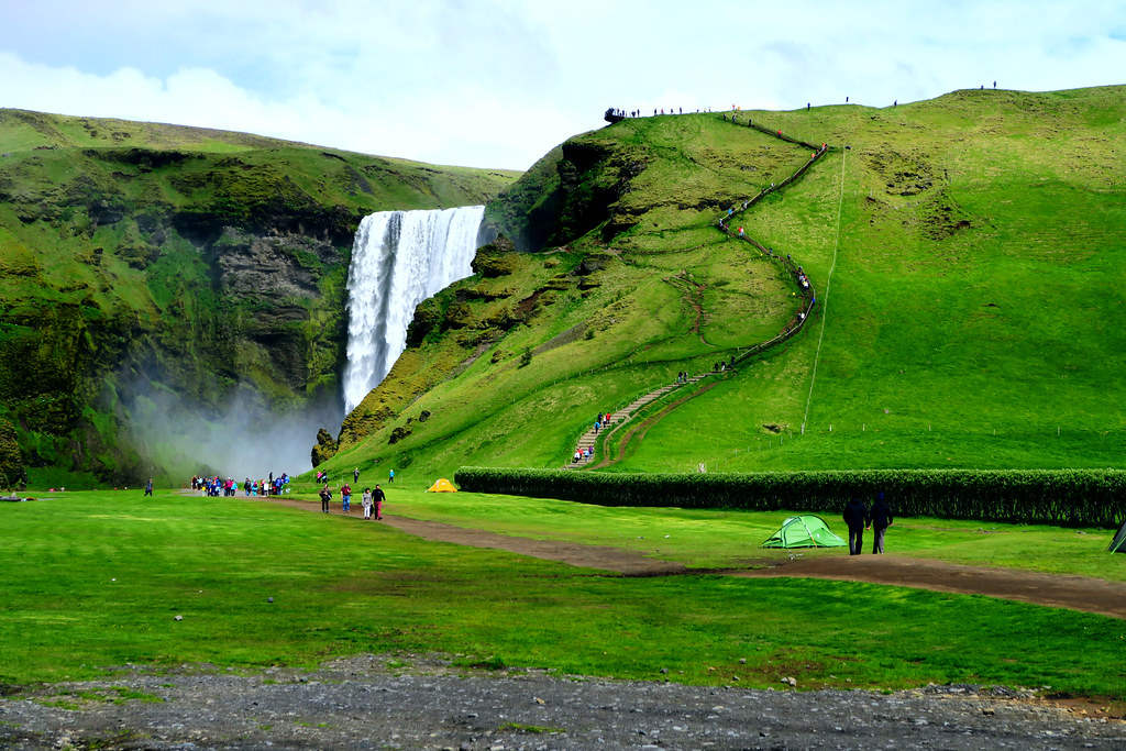 Waterfalls at Skogafoss, Iceland