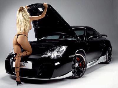 Porsche 911 Sexy Girl Black Porsche 911 And Super Sexy