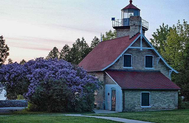 Hdr Eagle Bluff Lighthouse At Peninsula State Park Door