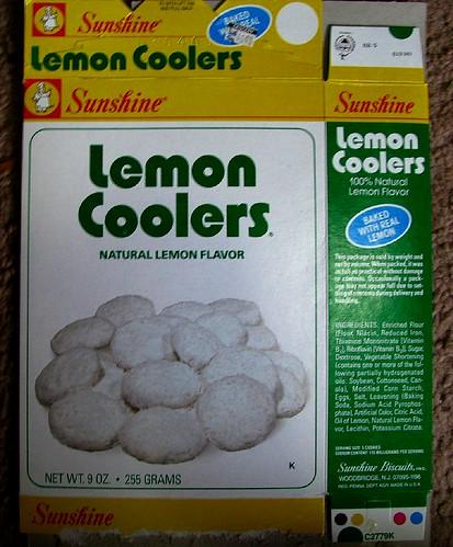 mid 1980s Sunshine Lemon Coolers cookies box | Pete Sorbi | Flickr