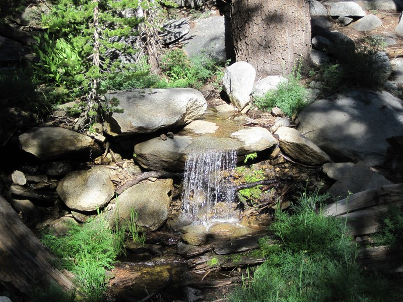 Small waterfall on the southern fork of Long Valley Creek