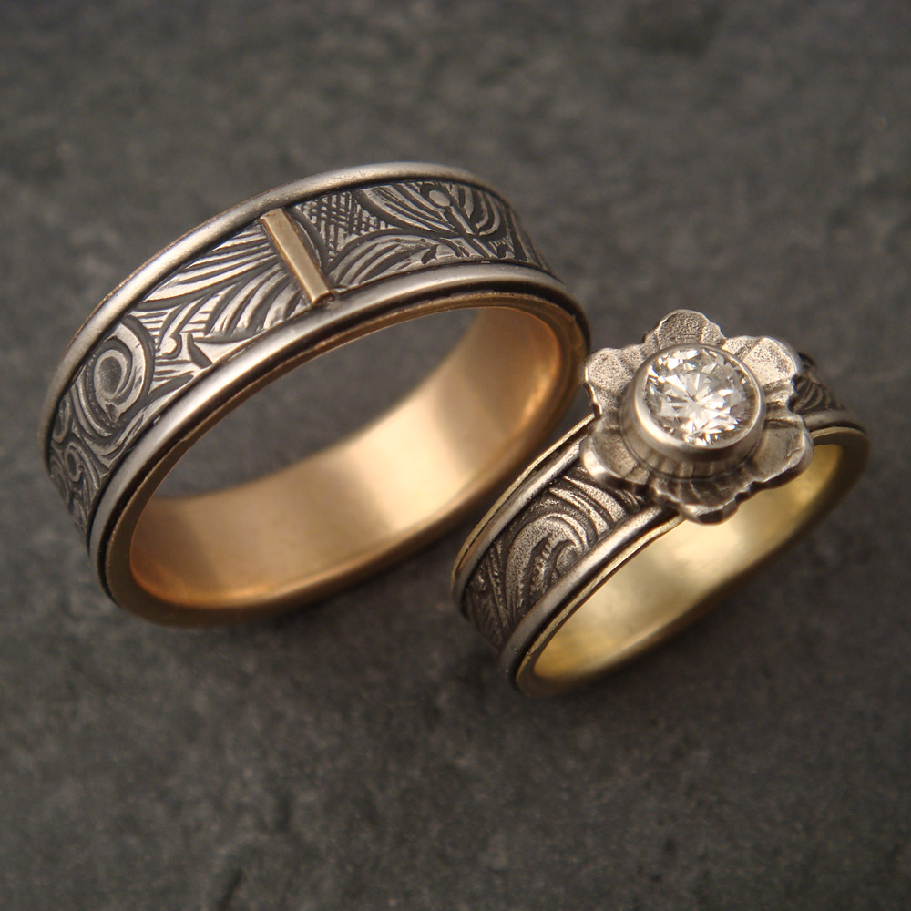 wedding band ring custom wedding set this was a custom wedding set that i 8421