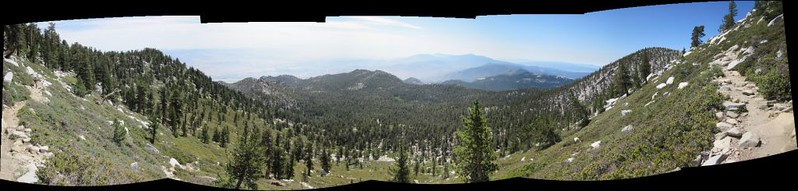 Multi-shot panorama looking south from the San Jacinto Peak Trail