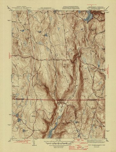 West Granville Quadrangle 1946 - USGS Topographic Map 1:31,680 | by uconnlibrariesmagic