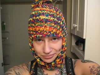 Rainbow raver hat | by cross-stitch-san