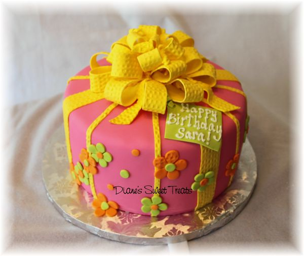 Textured Cake With Birthday Message