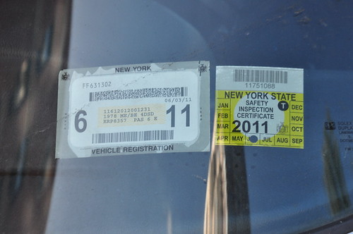 New york state vehicle registration and inspection flickr for Ny motor vehicle inspection