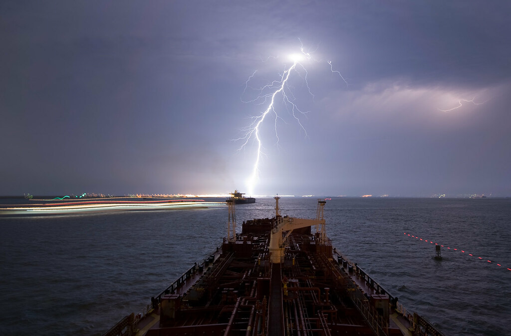 Lightning Strike In Texas City Taken During A Lightning