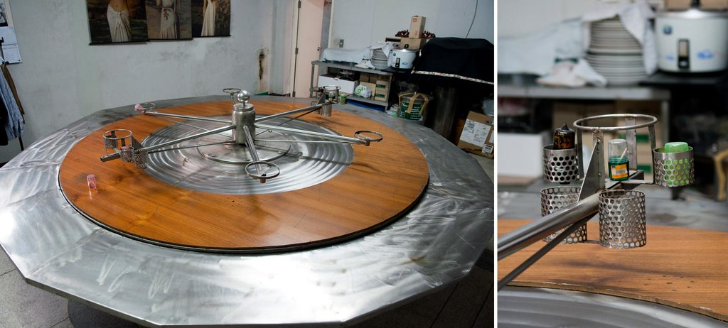 Homemade Dining Table With Double Lazy Susan Silverlily
