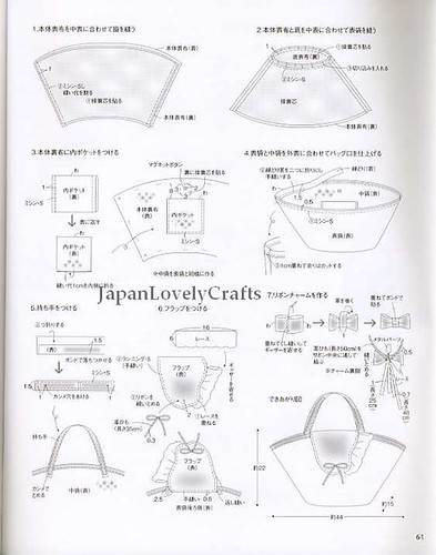 CLOTH AND LEATHER BAG - JAPANESE SEWING PATTERNS BOOK FOR BAGS - HEART ...
