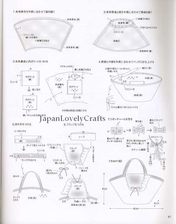 CLOTH AND LEATHER BAG - JAPANESE SEWING PATTERNS BOOK FOR … | Flickr