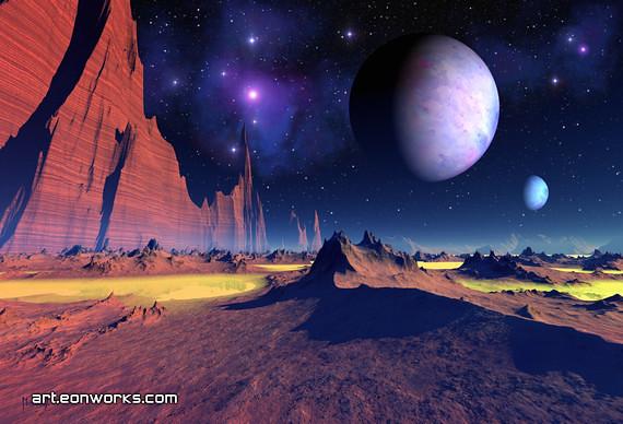 Stellar vista space landscape a distant spot for for Landscape space