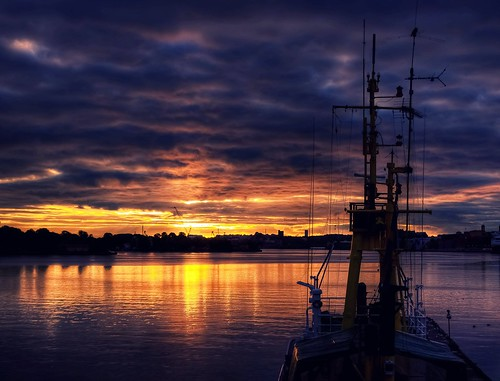 Sunrise on the Baltic see | by Olympe B.