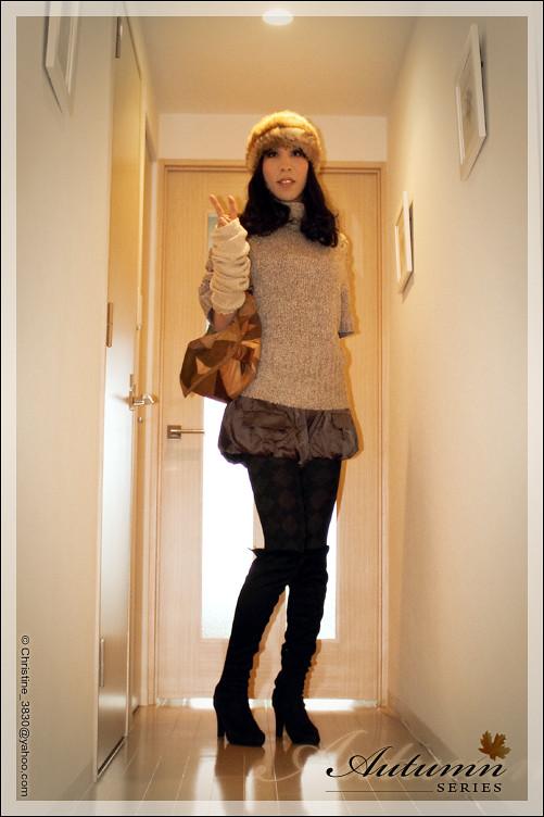 女装 Japanese Crossdress Christine Autumnseries01 Me