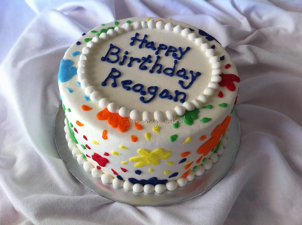 Birthday Cake Splash