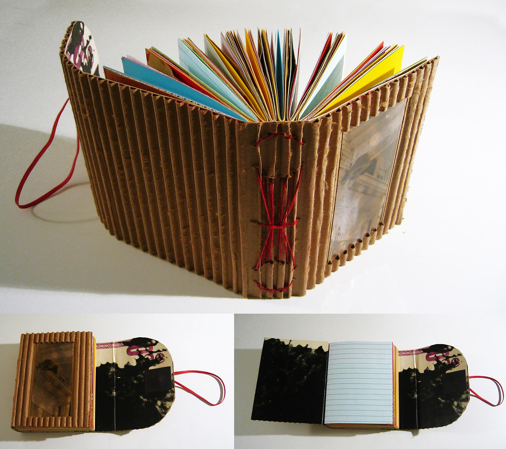 How To Make A Book Cover Out Of Paper : Corrugated cardboard flap book tearing off one side of