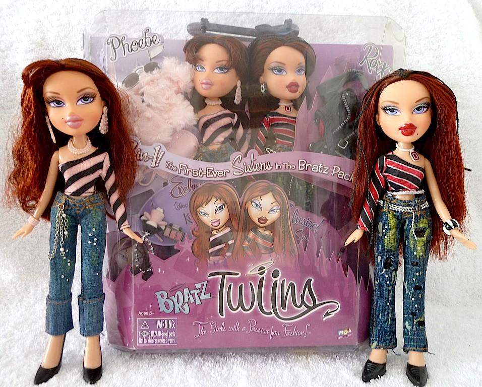 bratz 1st edition twins phoebe roxxi dolls boxed flickr