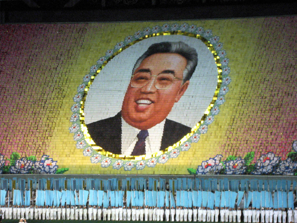 Kim Il Sung | An image of President Kim Il Sung created by ...