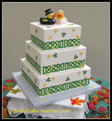 Irish wedding cake by graceful cake creations
