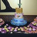 Luau wedding cake and cupcakes