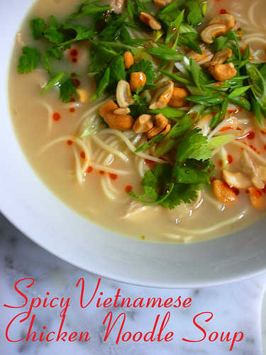 spicy Vietnamese chicken noodle soup | by awhiskandaspoon