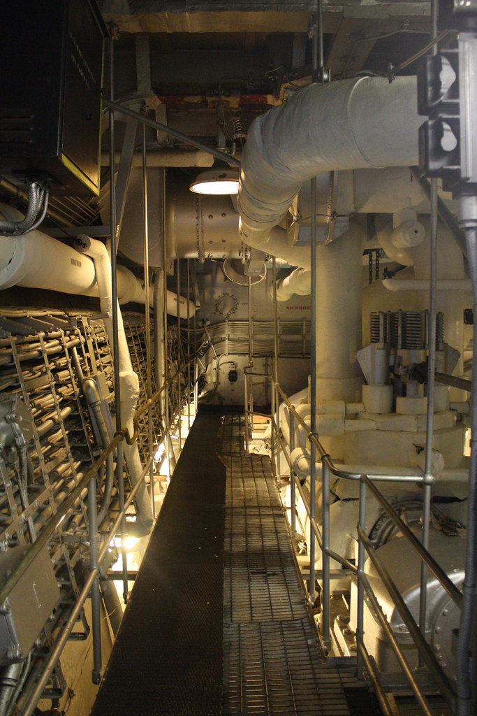 The Engine Room From Way Back: USS Massachusetts - Engine Room