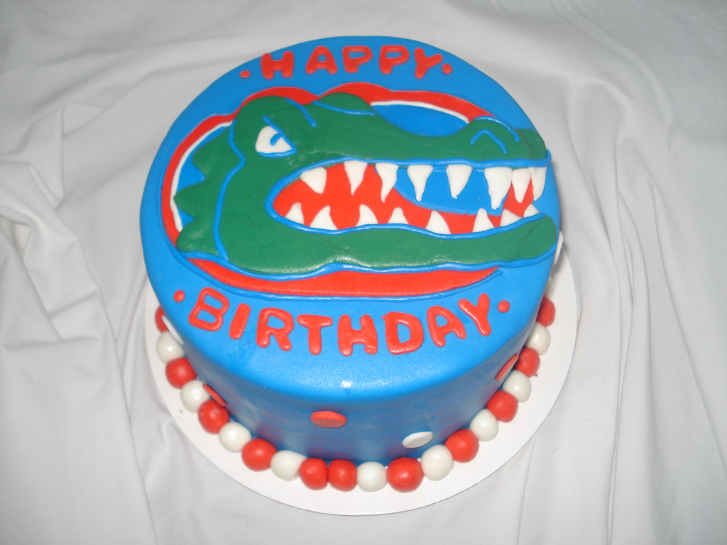 Florida Gator Cake Florida Gator Cake Jamies Cakes Flickr