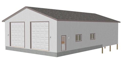 Rv garage plans g416 38 x 43 x 14 detached shop with 38 for Rv barn plans
